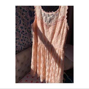 City Triangles Peach Dress